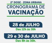 Cronograma de vacinação 2º dose – Covid-19