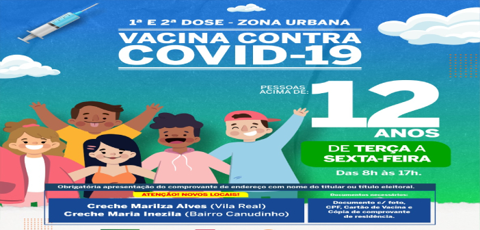 Vacina contra Covid-19: Para pessoas acima de 12 anos